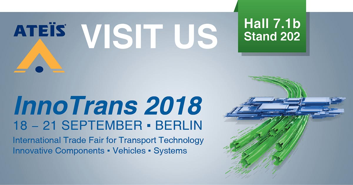 Visit us at InnoTrans 2018 – The world's leading trade for transport technology