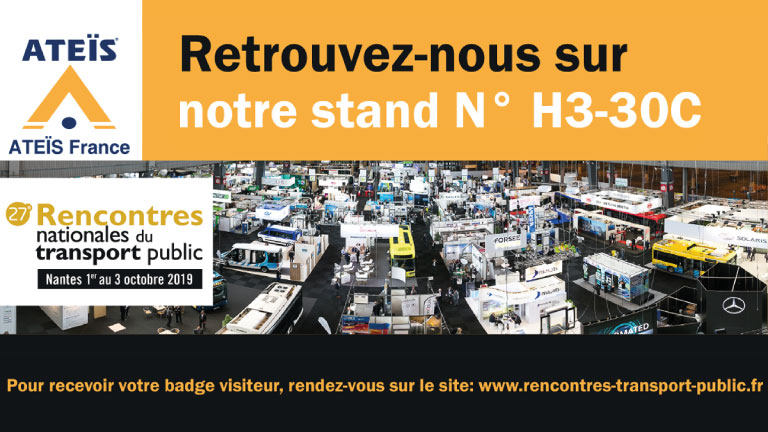 ATEÏS France will exhibit to the 27th National Meetings of Public Transport (1)
